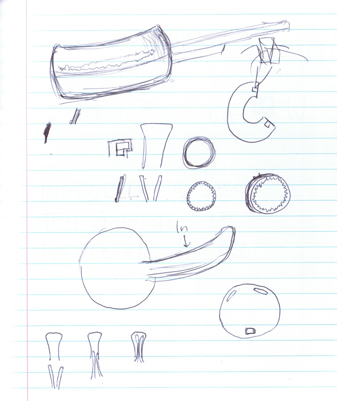various sketches of locking mechanisms